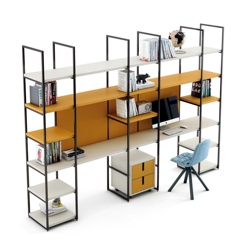 Estanterias modulares de madera estanteria metalica y for Muebles estanterias modulares