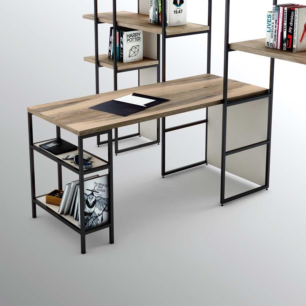 Mesas de trabajo estilo n rdico - Como hacer una mesa estilo industrial ...